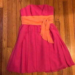 Alfred Angelo Pink & Tangerine Dress